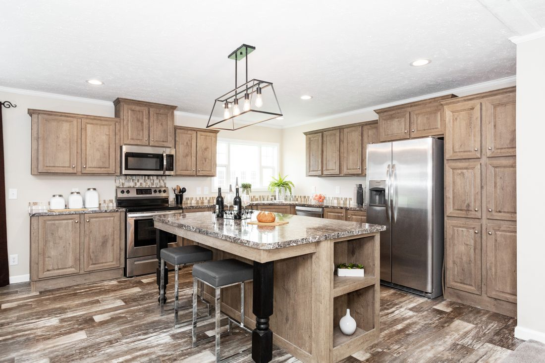 The 5808 ENTERPRISE 7632 Kitchen. This Manufactured Mobile Home features 4 bedrooms and 2 baths.