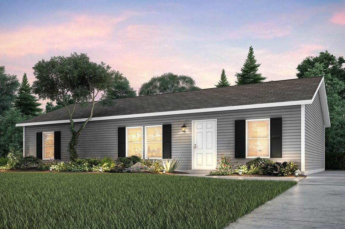 The 7130 ENTERPRISE 4828 Exterior. This Manufactured Mobile Home features 3 bedrooms and 2 baths.