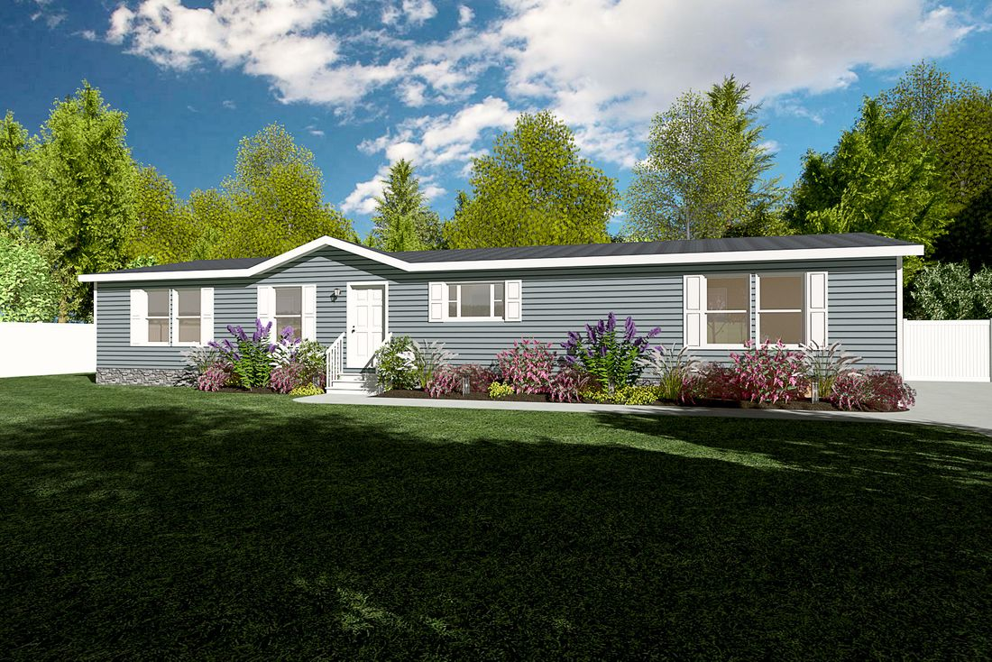 The 4860 ENTERPRISE 6632 Exterior. This Manufactured Mobile Home features 3 bedrooms and 2 baths.