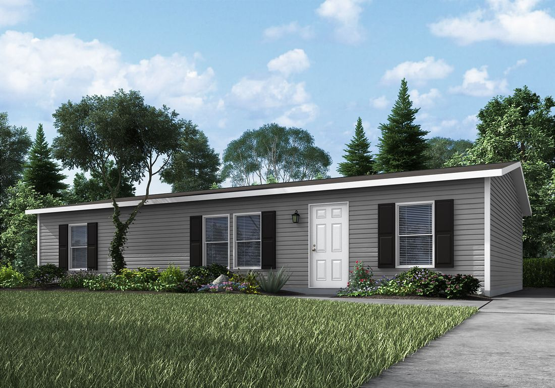 The 7120 ENTERPRISE 4828 Exterior. This Manufactured Mobile Home features 3 bedrooms and 2 baths.