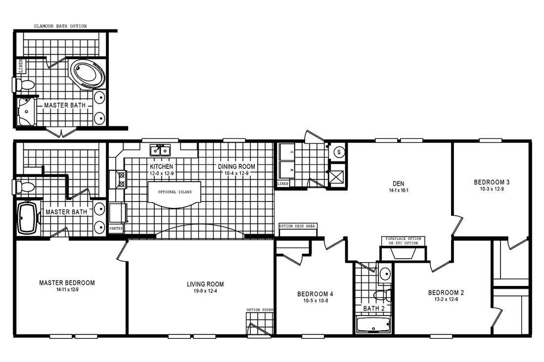 The 5602 ENTERPRISE 2 7028 Floor Plan