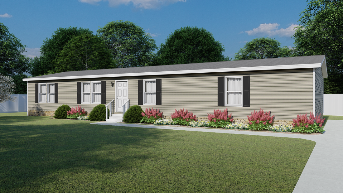 The 5602 ENTERPRISE 2 7028 Exterior. This Manufactured Mobile Home features 4 bedrooms and 2 baths.